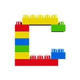 C plastic font alphabet character
