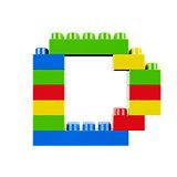 D plastic font alphabet character