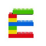 E plastic font alphabet character