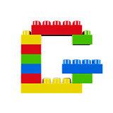 G plastic font alphabet character