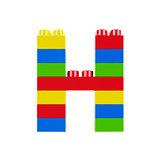 H plastic font alphabet character