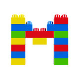 M plastic font alphabet character