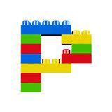 P plastic font alphabet character
