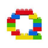Q plastic font alphabet character