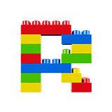 R plastic font alphabet character