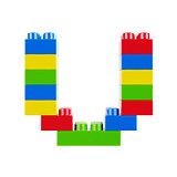 U plastic font alphabet character