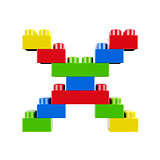 X plastic font alphabet character