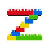 Z plastic font alphabet character