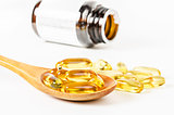 Fish oil capsules with omega 3.