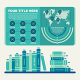 Infographics elements. Bar chart and pie chart