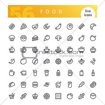 Food Line Icons Set