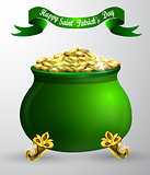 St. Patrick s Day symbol green pot