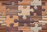 Brown Wood Puzzle Mosaic Seamless