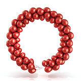 Red balloons wreath 3D