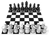 Chess Board with all chess pieces