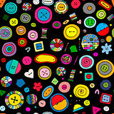 Buttons, seamless pattern for your design
