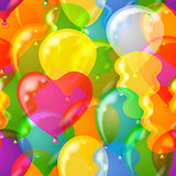 Seamless Background with Balloons