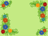 Colourful flower pattern as a greeting card