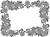 Floral frame with stencils