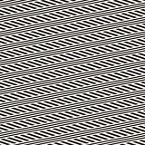 Interlacing Parallel  Stripes. Vector Seamless Monochrome Pattern.