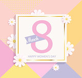 Womens day geometric background.