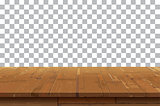 Empty wooden table top isolated background.Old vintage shelf tex