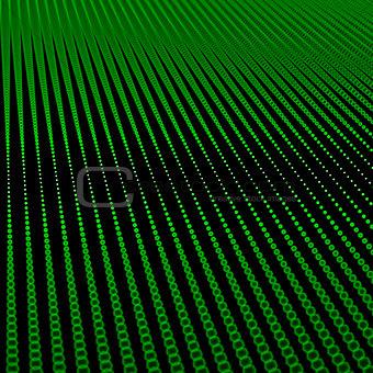 Abstract bokeh dots waves