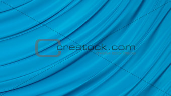 3D Illustration Abstract Blue Background
