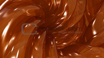 3D Illustration Abstract Honey Background