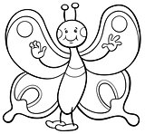 butterfly character coloring page