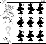 shadow differences game for coloring