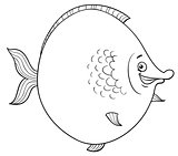 big fish cartoon coloring page