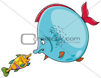 fish talking cartoon illustration