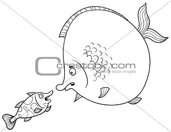fish talking coloring page
