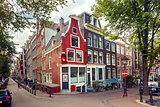 Amsterdam street, Holland, Netherlands.