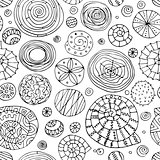 Abstract spirals and circles, seamless pattern for your design