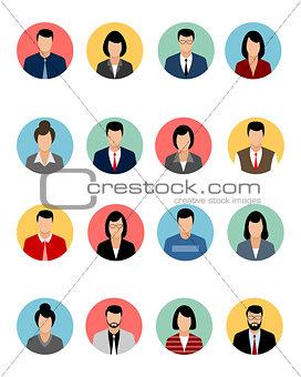 Sixteen avatars set