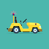 Luggage truck icon
