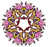 Mandala colorful floral ornament