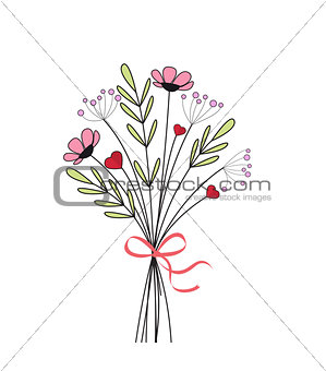 Bouquet of meadow flowers