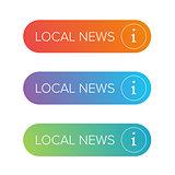 Local News sign button set