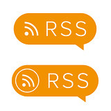 RSS feed icon sign