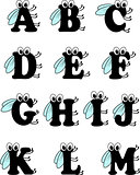 Funny insect alphabet from a to m