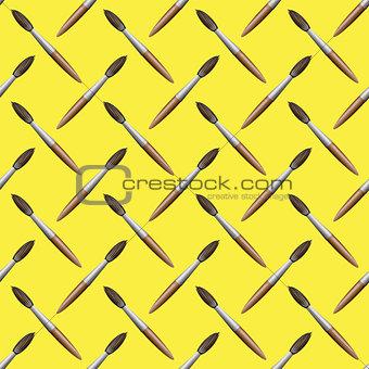 Paintbrush Seamless Pattern