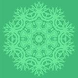 Green Oriental Geometric Ornament