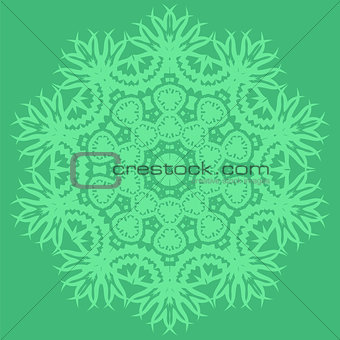 Green Oriental Geometric Ornament