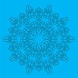 Blue Ornamental Line Pattern