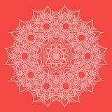 Red Oriental Geometric Ornament