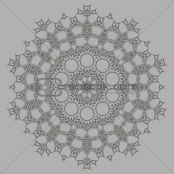 Grey Ornamental Pattern.