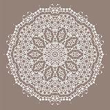 Grey Ornamental Line Pattern